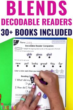 Are you looking for the PERFECT decodable blends readers?? Here they are! These no prep, fold-and-go decodable readers use only the targeted consonant blends and sight words in each reader. They're perfect for beginning readers because they are printable, require no prep, and include pre-reading and post-reading activities. No worries about germ-sharing here! Every student can have their own decodable reader and extension activities – with limited paper on your end! Post Reading Activities, Phonics Reading, Reading Words, Reading Passages, G Names, Words Containing, Consonant Blends, Word Building, Pre And Post
