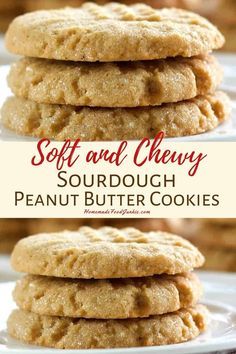 Our soft and chew sourdough peanut butter cookies are simple to make and a great way to use your sourdough starter. This recipe full of rich flavor and freezer friendly. Sourdough Starter Discard Recipe, Bread Starter, Sourdough Recipes, Sourdough Rolls, Easy Peanut Butter Cookies, Peanut Butter Oatmeal, Cookie Recipes, Dessert Recipes, Homemade Food