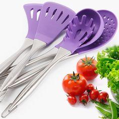 Kitchen Utensils Cutlery Holder Stands 6 Hooks Stainless Steel