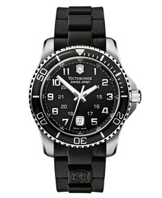 7ff2b83b9de Victorinox Swiss Army Men s Maverick GS Black Rubber Strap Watch 44mm  241435 Jewelry   Watches - Watches - Macy s
