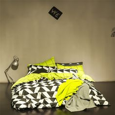 Smiple style bedding set black&white plaid quilt cover yellow grid bed sheet bedspreads cotton bedclothes twin/queen bed linen-in Bedding Sets from Home & Garden on Aliexpress.com | Alibaba Group