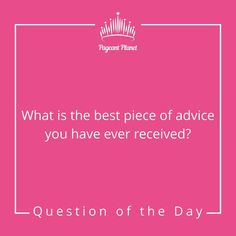 It's FRI-YAY! Answer today's as you would in interview for a chance to be featured! Teen Pageant, Pageant Tips, Miss Pageant, Beauty Pageant Questions, Pageant Interview Questions, Beauty Queen Tips, Beauty Queens, Miss Alabama Usa, Question Of The Day