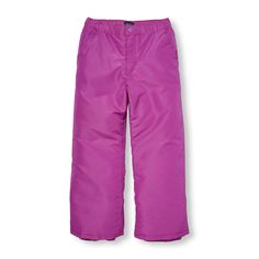 Girls Solid Snow Pants
