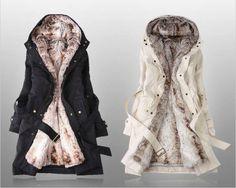 Thickened Fleece Lined Waistband Beam Waist Pockets Women