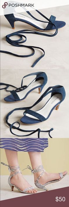 ee0b5533eb57 Jeffrey Campbell sandals Worn once Excellent condition Kitten heels I m  selling the navy color Jeffrey Campbell Shoes