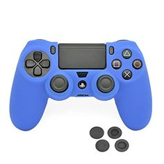 PlayStation 4 Controller CaseVRunow Silicone Protection Case Skin for SONY PS4 DualShock Controllers with Thumb GripCase X 1  Thumb Grip X 4 Dark Blue >>> Continue to the product at the image link.Note:It is affiliate link to Amazon. #PlayStationGames
