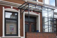 Pulverbeschichtete Haustürüberdachung   Ronald Meyer – Metallbau • Stahlbau