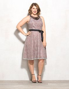 Lovely by Adrianna Papell Plus Size Embellished Dress