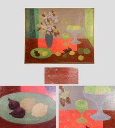 Barbara Konstan, huile sur toile signée et datée 1948.