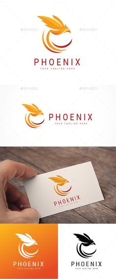 Abstract Phoenix #Logo - Animals Logo Templates Download here: https://graphicriver.net/item/abstract-phoenix-logo/20006984?ref=alena994