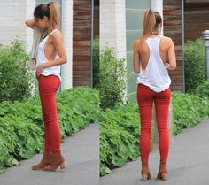 Red Seashell (by Stephanie - thestrawberrybrunette.com) http://lookbook.nu/look/3547193-Red-Seashell