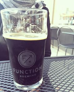 Perfect weather for a milk stout at @functionbrewing. #drinklocal #btownfall #hellobtown