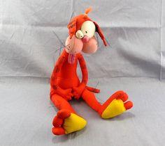 "Bill the Cat Bloom County 16"" Plush Stuffed Animal 1987 Dakin Orange Toy #Dakin"