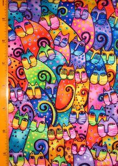 Les magnifiques chats de couleur de Laurel Burch.