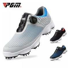 PGM Golf Shoes Men's Waterproof Breathable Antiskid Sneakers Male Rotating Shoelaces Sports Spiked Anti-slip Sneakers XZ106 Price: 67.47 & FREE Shipping #bag #chanel #clothes #siambrandname #followme #luxury #sbn #happy #follow #fashionblogger #summer #instadaily Sports Footwear, Sports Shoes, Basketball Shoes, Tennis Sneakers, Air Max Sneakers, Converse Shoes, Nike Shoes, Waterproof Golf Shoes, Training Sneakers