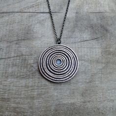 Concentric Sterling Silver Necklace by MUSIBATTY on Etsy, $282.00