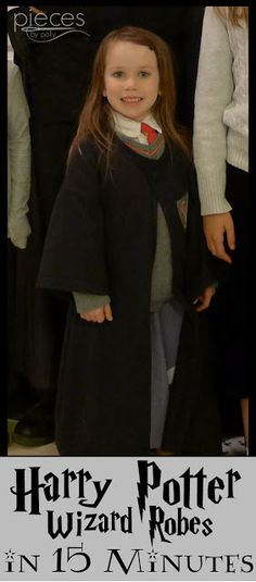 Make a Harry Potter robe from a T-shirt in 15 minutes.  So fast and easy, it's almost magical.