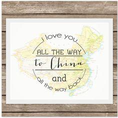 I Love You to CHINA and Back Adoption by echoesofmercy on Etsy, $17.00