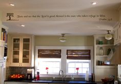 I have a thing with painting scripture on my walls.  I totally want to put this up in my kitchen.