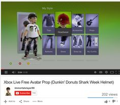 MOBILE TOUCHPOINTS:  ON SOCIAL / YOUTUBE: 	 (from about Aug 15 to Sept 15)  - A homemade video explaining how to download a DD/SW/Xbox avitar got 176 views. It expressed frustration in avatar download offer kept changing. Perhaps this could have drawn more Xbox audience had it been promoted and managed more strongly. - Xbox themed box video ad - 3K views - One video sponsor ad from Gillette Razor - 4.6K views.   It seems DD and Microsoft did not take advantage of video potential.
