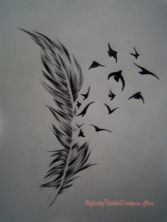 Feather Birds Tattoo