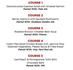 A DROOLWORTHY Menu For Townhall Maple Ridge's Persephone Brewing Craft Beer Pairing Dinner – Aug 25, 2016