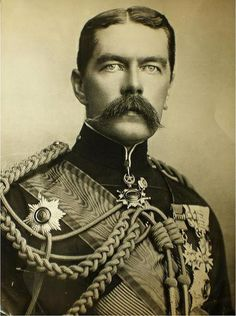 "Field Marshal Horatio Herbert Kitchener, 1st Earl Kitchener, KG, KP, GCB, OM, GCSI, GCMG, GCIE, ADC, PC (24 June 1850 – 5 June 1916) was a senior British Army officer and colonial administrator, who on fame in 1898 for winning the Battle of Omdurman and securing control of the Sudan, after which he was given the title ""Lord Kitchener of Khartoum""; as Chief of Staff (1900–02) in the Second Boer War he played a key role in Lord Roberts' conquest of the Boer Republics."