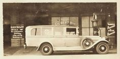 https://flic.kr/p/9rYKXh   First ambulance built in Newcastle, NSW, Australia [c.1920's]   First ambulance built in Newcastle, shown outside Gilbert Bros.& Co. Ltd. Trimmers, Painters & Car Renovators.  This image was scanned from a photograph in the Newcastle and Hunter District Historical Society archives which are held by Cultural Collections at the University of Newcastle, Australia.  If you have any information about this photograph, please contact us.  Please contact us if you are