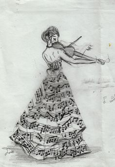 love photography beauty art girl quote Black and White life dress music notes musical desenho Notas violin sheet music treble clef vestido music art violino Music Drawings, Cool Drawings, Pretty Drawings, Pictures Of Music Notes, Art Plastique, Art Sketches, Painting & Drawing, Music Painting, Dress Drawing