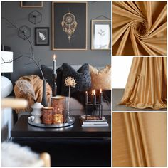 Glam silk drapes for living room Silk Curtains, Drapery, Mustard Living Rooms, Dream Rooms, Valance, Window Treatments, Blinds, Pure Products, Luxury
