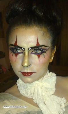 More pictures & list pf products I used here: http://krimzinart.blogspot.com/2012/10/wicked-harlequin.html