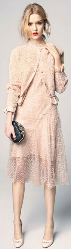 Nina Ricci blush pink dress