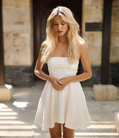 White mini dress #bridalfashion