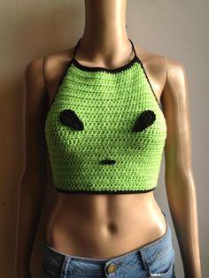 Crochet alien crop top pattern