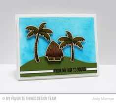 Tiki Party stamp set and Die-namics, Stitched Snow Drifts Die-namics - Jody Morrow #mftstamps