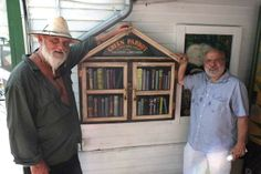 John Vagnoni. Key West, FL. With the help of Nick Vagnoni, Nathaniel Sandler, Arlo Haskell and Lori Kelly, The Green Parrot hosted a book exchange by Bookleggers, a community mobile library based out of Miami. That same weekend David Wegman, an artist who spends his time between Key West, St. Barts, and Maine stopped by to see if there were any projects on the horizon for him. All the planets seemed to line up and David was commissioned to build the Green Parrot Little Free Library the same…