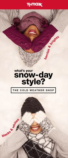 The cold weather shop is now open! Discover amazing savings on coats, gloves, hats, boots & more for your entire family. Shop outerwear & more at T.J.Maxx and tjmaxx.com.