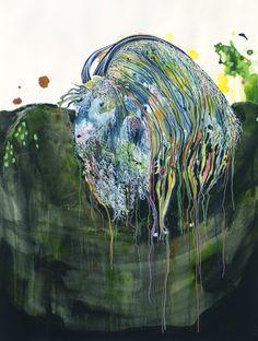 "Saatchi Online Artist: Virginie Gallois; Ink, 2011, Mixed Media ""Mohair"" #art"