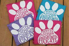Dog Rescue Shirt, Adopt, Foster Dog, Rescue Dog, Animal Rescue, T-Shirt, Pet Adoption Shirt, Dog Shirt