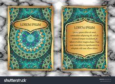 Invitation Card Design Template. Vintage Decorative Elements With Mandala, Delicate Floral Pattern. Islam, Arabic, Indian, Ottoman, Aztec Motifs. Стоковая векторная иллюстрация 493254154 : Shutterstock