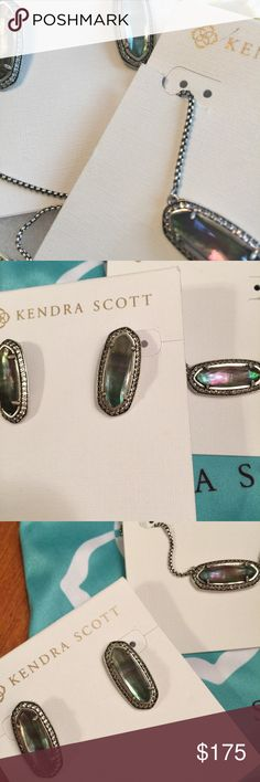 NWT Kendra Scott Annika and Aston Set Black Pearl! Beautiful perfectly matched, genuine Kendra Scott set with Annika and Aston earrings in stunning black pearl surrounded by CZ's. This is one of the prettiest sets she ever made, and it's retired and sold out everywhere! Comes with two signature KS blue dustbags. Please no lowballs and I only trade for Kendra😊 Kendra Scott Jewelry