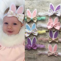 Niña / conejito niño orejas diadema. Disponible en diversos colores que se muestran como colores de encargo. Medidas de la diadema media: Recién nacido (0-3 meses) - 13 pulgadas 3-6 meses - 15 pulgadas 6-12 meses - 16 pulgadas Niño (12 meses +) - 17 pulgadas