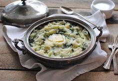 Irish Colcannon {Potatoes + Scallions + #Kale + Butter}