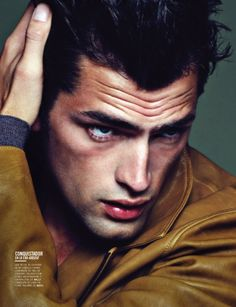In Vogue–After delighting us with the striking cover of Vogue Hombre's fall/winter 2012 issue, model Sean O'Pry returns for a stunning editorial published in… Sean O'pry, American Male Models, Le Male, Male Photography, Raining Men, Male Poses, Most Beautiful Man, Male Beauty, Stylish Men