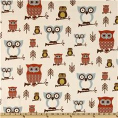 Premier Prints Hooty Owl Village  Item Number: DC-307  Our Price: $7.48 per Yard  cold wash, air dry