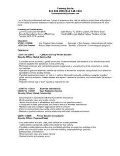 guard security officer resume ideas httpwwwjobresumewebsite