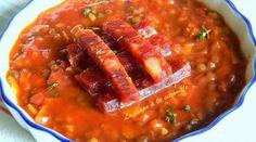 Soupe de lentilles vertes au pimentón et chorizo Chorizo, Chili, Salsa, Food And Drink, Cooking, Ethnic Recipes, Desserts, Tupperware, Bar