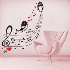 1000 images about vinilos decorativos on pinterest - Vinilos pared musica ...