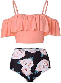 Find Kaei&Shi High Waisted Flounce Bikini Set,Tummy Control Swimsuits Women,Off Shoulder online. Shop the latest collection of Kaei&Shi High Waisted Flounce Bikini Set,Tummy Control Swimsuits Women,Off Shoulder from the popular stores - all in one Toddler Girl Bathing Suit, Bathing Suits For Teens, Summer Bathing Suits, Cute Bathing Suits, High Waist Bathing Suits, Off Shoulder Bathing Suit, Swimsuits For Tweens, Swimsuits For Big Bust, Plus Size Swimsuits