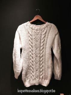 "Les Petites Valises: Pull oversize ""chaud dedans"" ( et son tuto) Men Sweater, Chiffon, Knitting, Creative, Sweaters, Inspiration, Blog Crochet, Pulls, Keto"